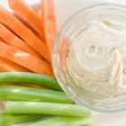 Hummus carrots and cucumber