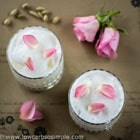 sweet lassi with rose water and cardamom