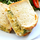 Southwest egg salad sandwich