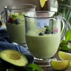 smoothie recipe with avocado and mint