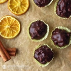 orange and walnut chocolate fat bombs