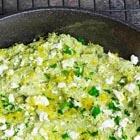 easy low carb lemon and feta broccoli
