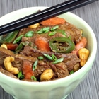 keto cashew beef thai stir fry