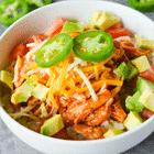 keto dinner chicken enchilada bowl