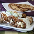 keto grilled eggplant lamb rolls