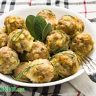 low carb cheddar maple and mustard pork meatballs