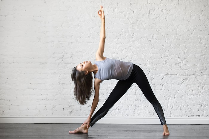 standing extended triangle pose