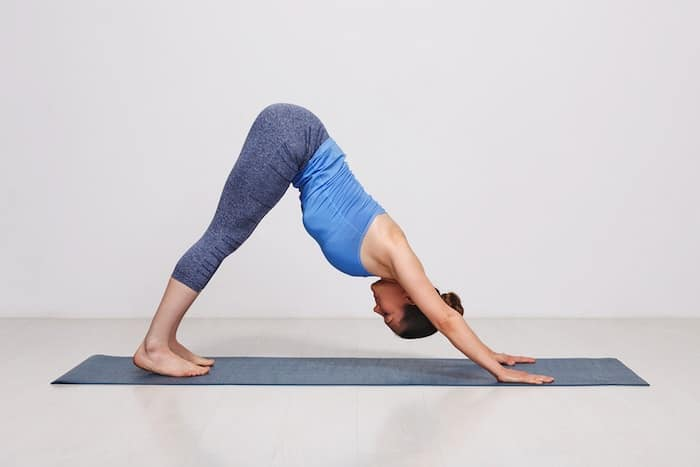 yoga standing downward dog pose