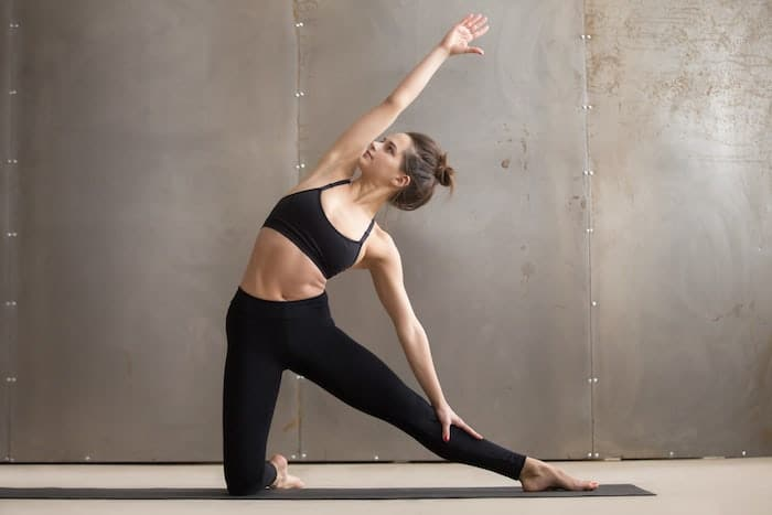 yoga standing gate pose