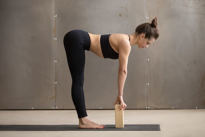 yoga standing half forward bend