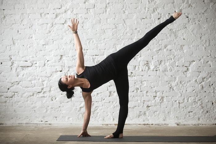 yoga standing half moon pose