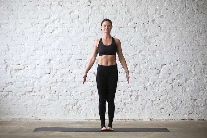 yoga standing mountain pose