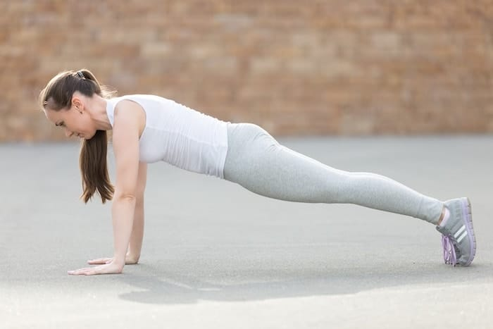 yoga standing plank pose