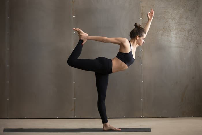 yoga standing pose dancer