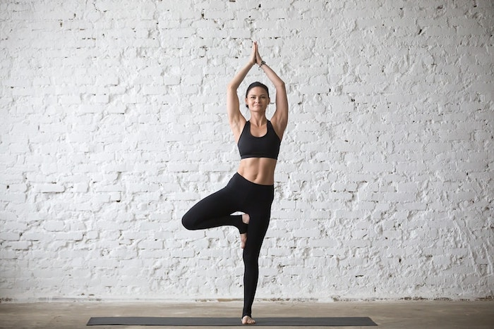 yoga standing tree pose