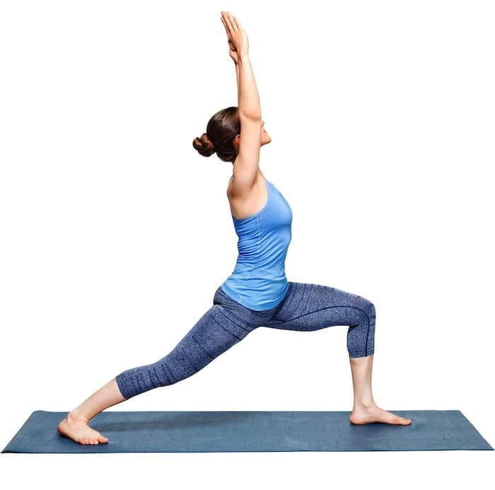 yoga standing warrior 1 pose