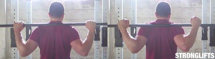 bar position squat