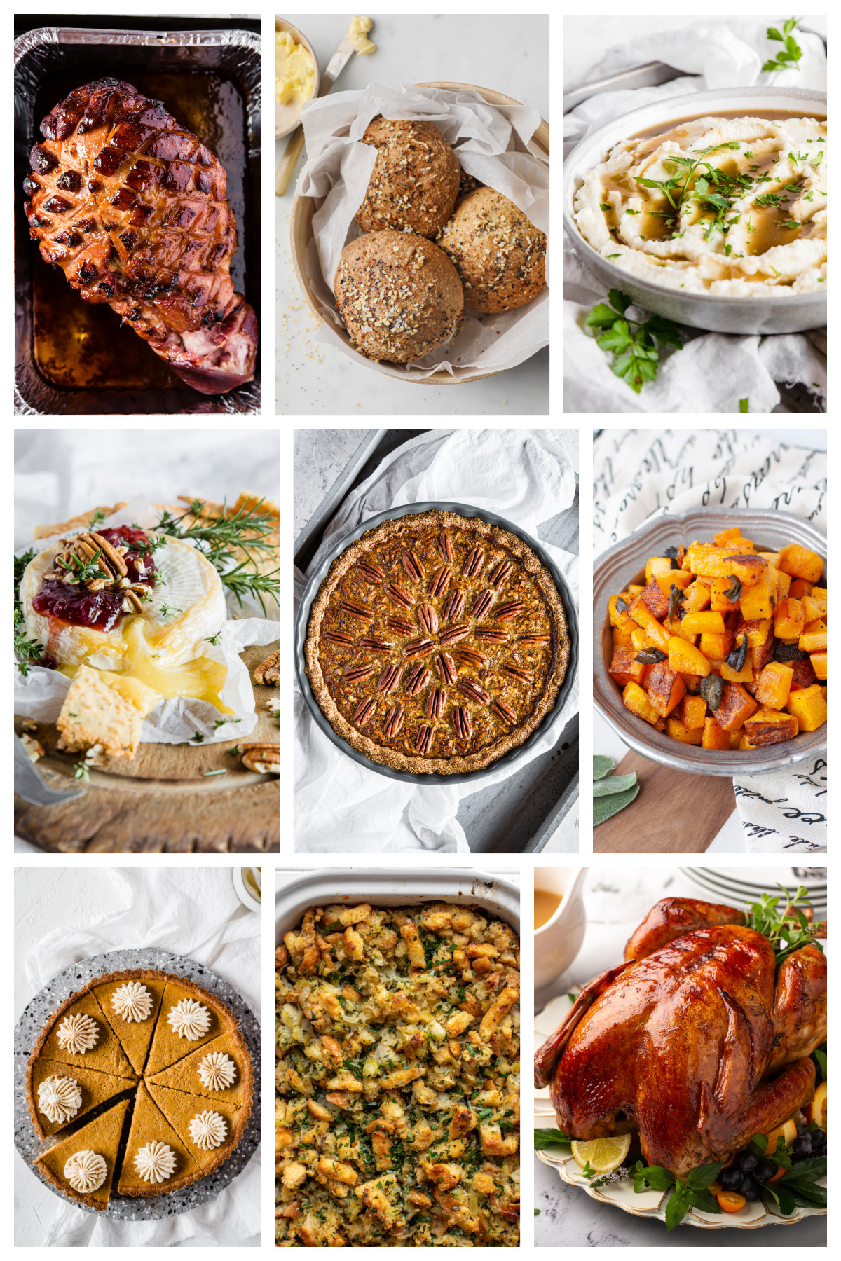 a collage of photos of low carb keto thanksgiving recipes
